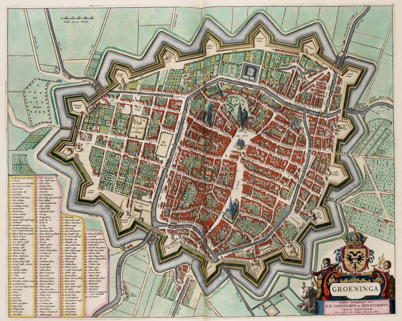 Plattegrond van middeleeuws Groningen